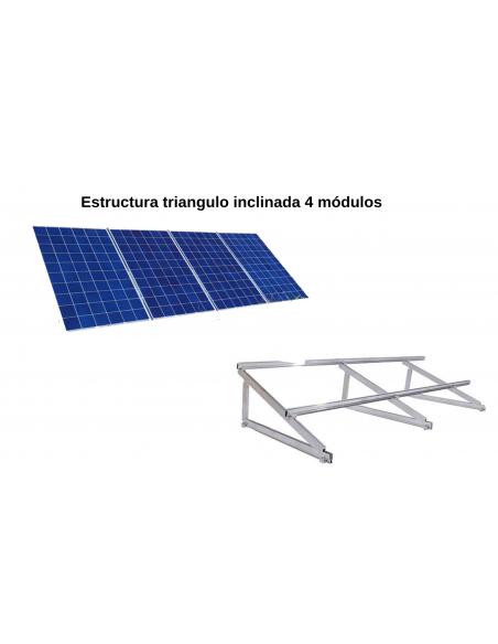 Estructura triangulo inclinada 4 módulos