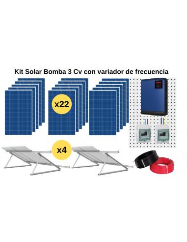 Kit Bombeo solar con variador de frecuencia 3CV