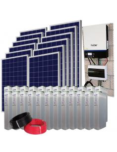 Kit Solar Aislada 20000 Wh/día en Verano  9800Wh/día en Invierno