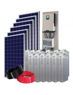 Kit Solar Aislada 10000Wh/día verano y 4800Wh/dia invierno